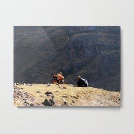Short break, Huacahuasi pass, Peru Metal Print