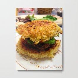 Ramen Burger Metal Print