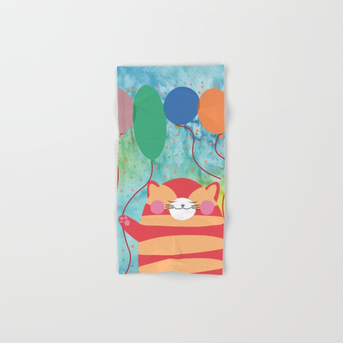 Red Cat Hand & Bath Towel