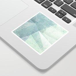 Frozen Geometry - Teal & Turquoise Sticker