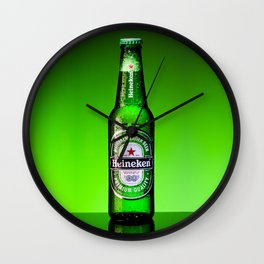 Ice cold Heineken Wall Clock