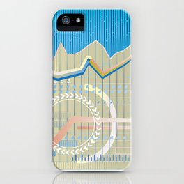 financial background iPhone Case