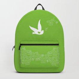 Wings of Love - Green Backpack