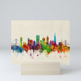 San Francisco City Skyline Mini Art Print