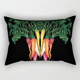 Food illustration - A beautiful bunch of carrots  Rectangular Pillow