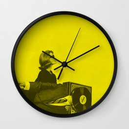 Portable Record Player Wall Clock