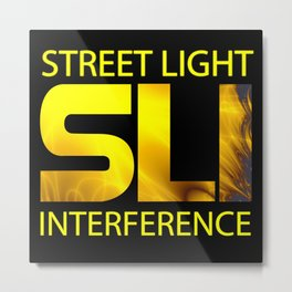 Street Light Interference Metal Print