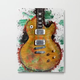 Gary Moore's and Peter Green's electric guitar Metal Print