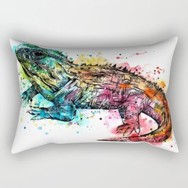 Colourful Tuatara Rectangular Pillow