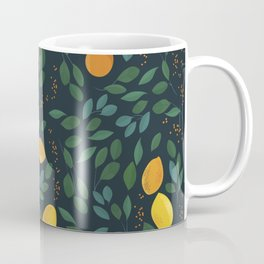 Lemon watercolor vintage pattern Coffee Mug