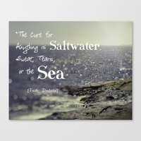 the cure Canvas Prints featuring Saltwater Cure by Debbra Obertanec Photography & Art