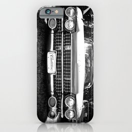 Black and White Hot Rod Caddy iPhone Case