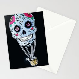 Mexican Skull Hot Air Ballon Stationery Cards