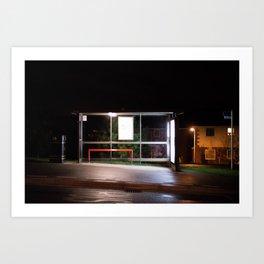 Midnight Stop Art Print