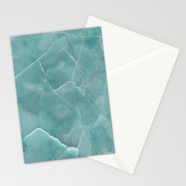 Ice Green Marble Stationery Cards