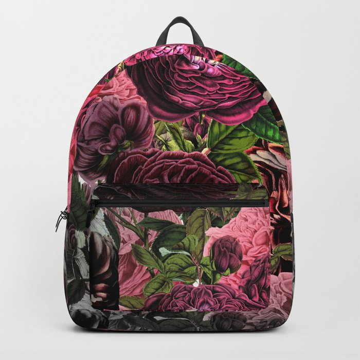 Vintage & Shabby-chic -  floral roses flowers - Flower and Rose Backpack