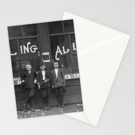 Pin Boys Outside Bowling Alley - 1911 Stationery Cards