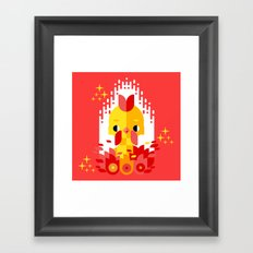 Year of the Rooster Framed Art Print