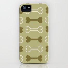 Bone surface pattern (green) iPhone Case