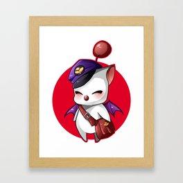 Final Fantasy - Moogle, Kupo! Framed Art Print