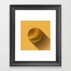 Flat Planet - #4 Venus Framed Art Print