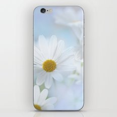 white daisies with text iPhone & iPod Skin