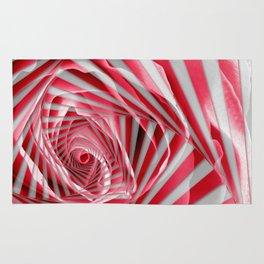 Pink Rose Spiral Rug