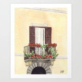 Italian Balcony Art Print