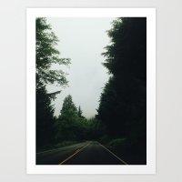 Gloomy Road Art Print