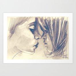 Sisters Love Art Print