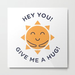 Summer, How Cute Are You! Metal Print