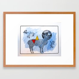 LAMA. Framed Art Print