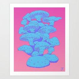 shiitake mushrooms Art Print