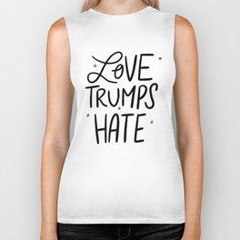 Love Trumps Hate Biker Tank