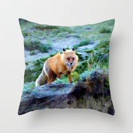 Foxy Lady  - Red Fox Throw Pillow