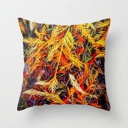 Cedar And Pine, Forest Floor Throw Pillow