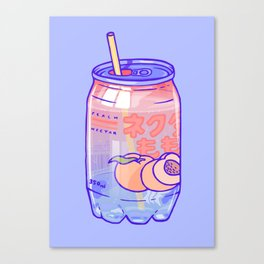 Peach Bubbles Canvas Print