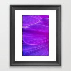 Purple Poppy Petal Framed Art Print