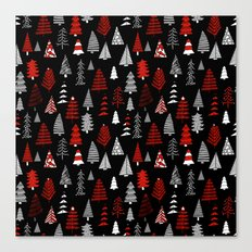 Christmas tree forest minimal scandi patterned holiday forest winter Canvas Print