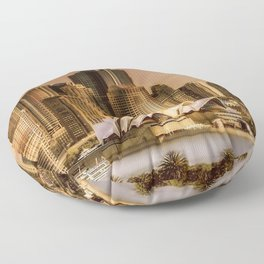 Sydney Cityscape Floor Pillow