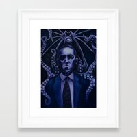 lovecraft Framed Art Prints featuring Lovecraft by Mrtn Ljmn