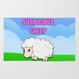 Suspicious Sheep Rug