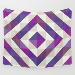 Patchwork Purples Wall Tapestry