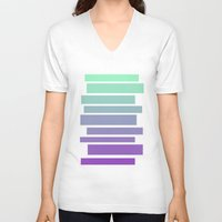 ombre V-neck T-shirts featuring Ombre by Miranda Williams