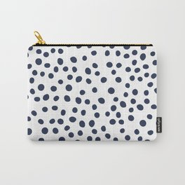 Dark blue vector doodle circle dot Carry-All Pouch