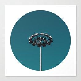 Circle Cut - II - Metal Daisy Canvas Print