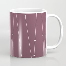 Contemporary Intersecting Vertical Lines in Mulberry Coffee Mug