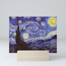Vincent Van Gogh Starry Night Mini Art Print