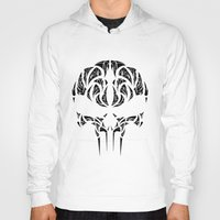 punisher Hoodies featuring Tribal Punisher by Kush Wright