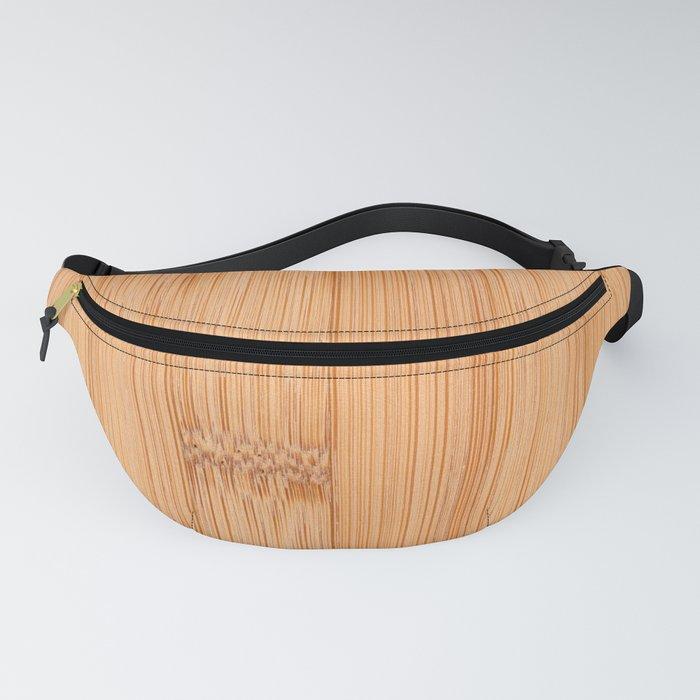 Cool elegant light brown bamboo wood print Fanny Pack